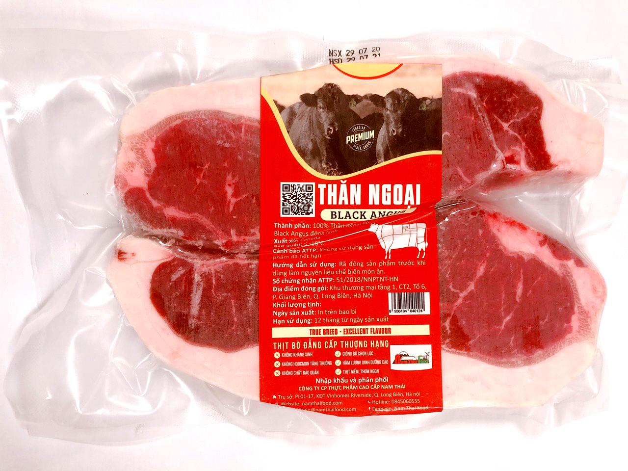 Thăn ngoại bò Black Angus Canada (Striploin) 1kg